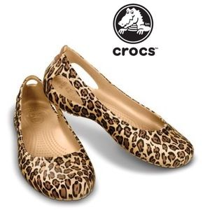Crocs Kadee Leopard Flat for sale